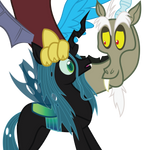 Discord and Queen Chrysalis