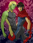Hulkling and Wiccan