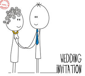 wedding invitation by asiaq