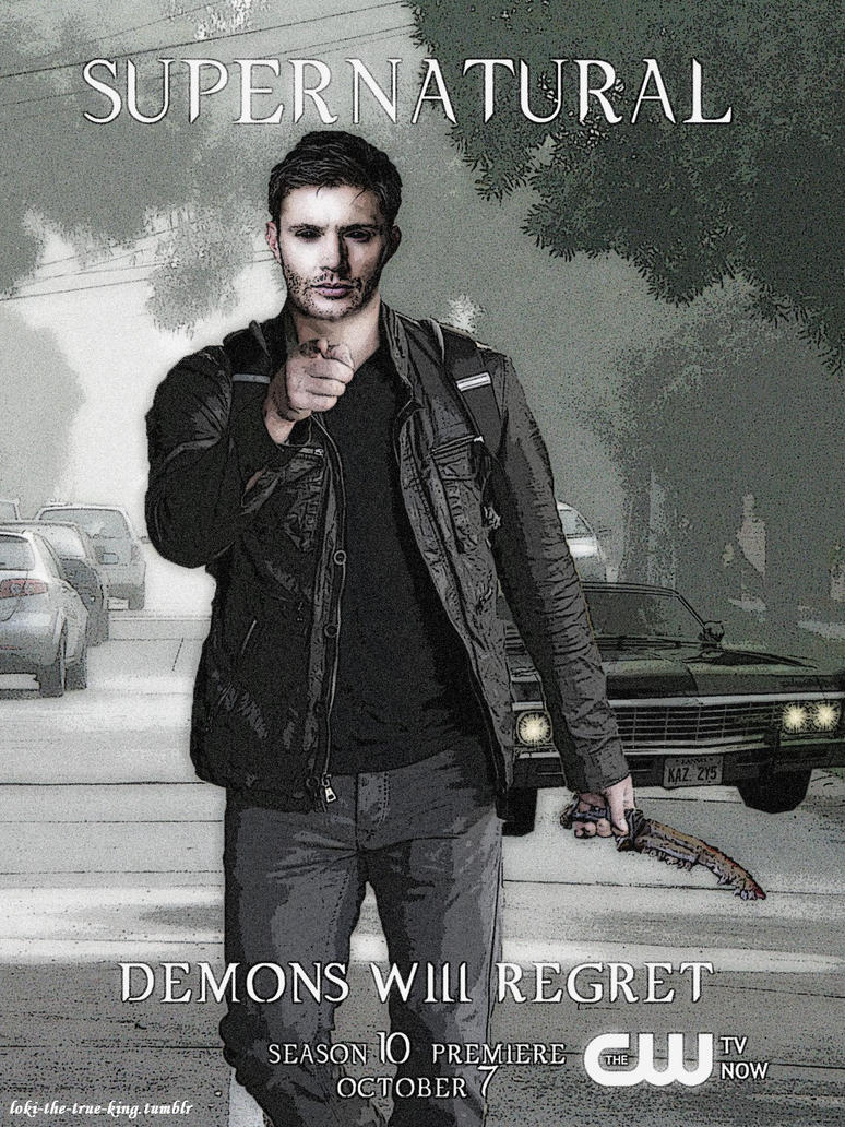 Supernatural season 10 fan-Poster (Demon!Dean) by ...