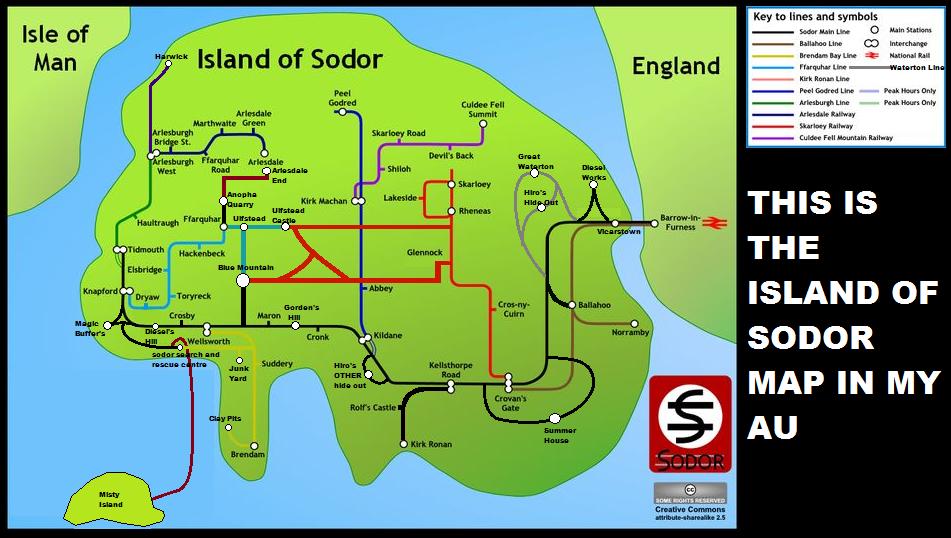 island of sodor map by davis2002 on deviantart