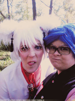 Okami and Rei   But first, let me take a selfie!