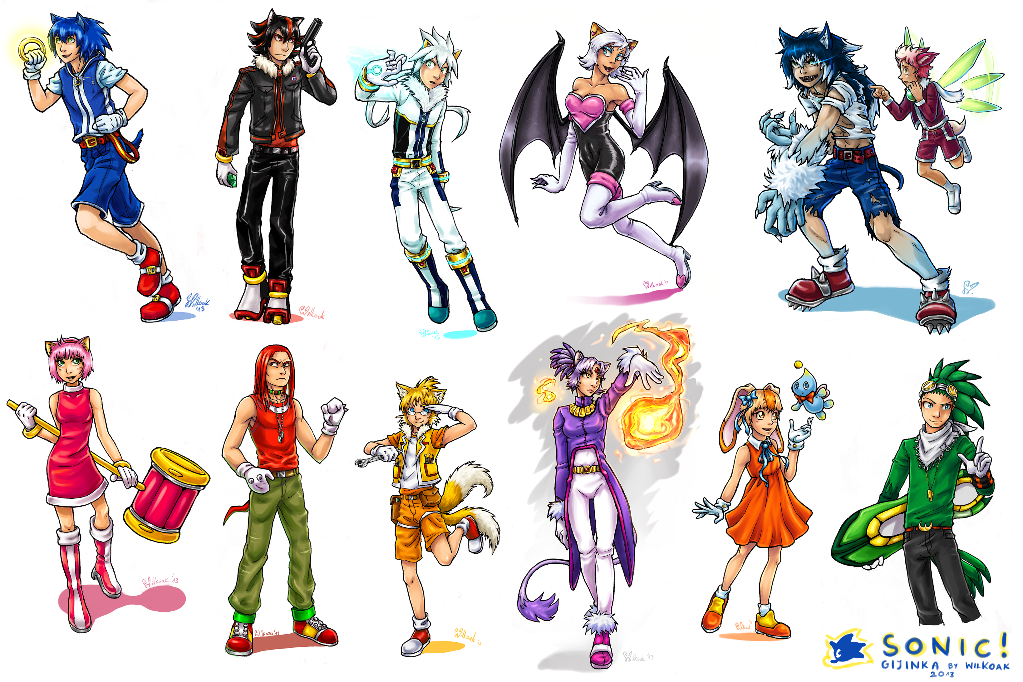 Sonic Anime Characters : Are you a sonic fan yes great no either way