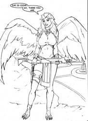 Avian (Eagle) Princess by EdGarcia