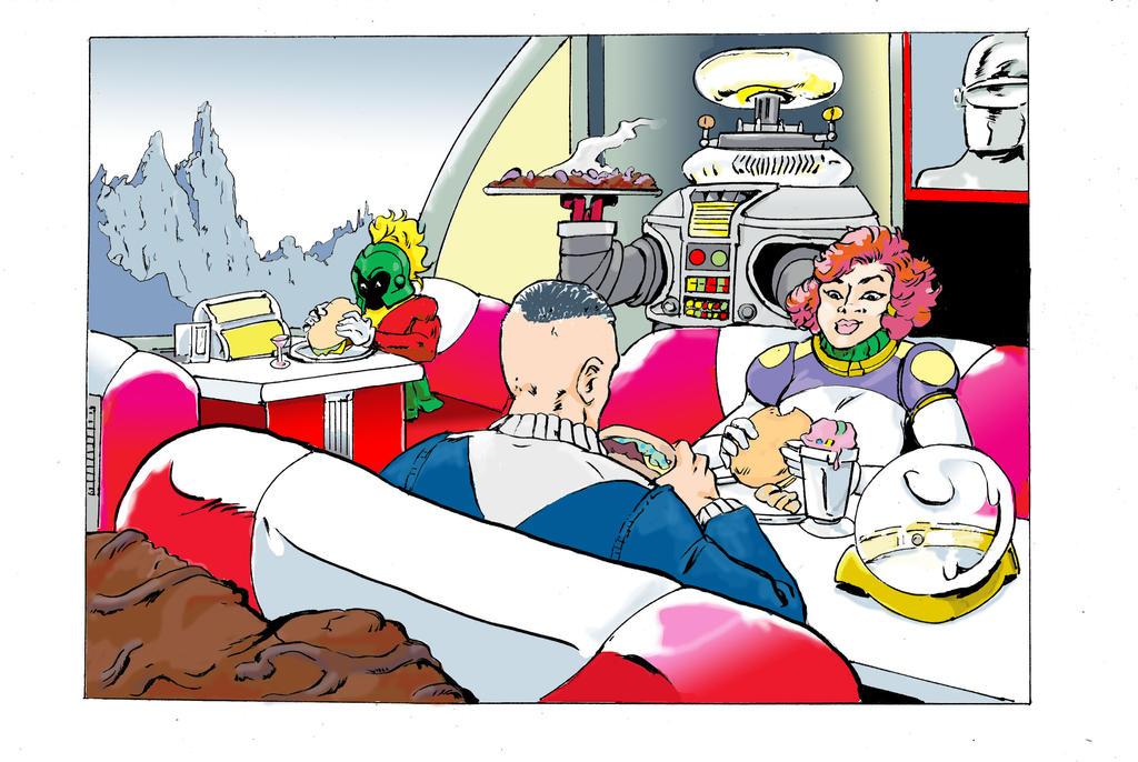 Space Diner by EdGarcia