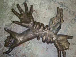 ...Swiss Army Hands... by darkendtwist