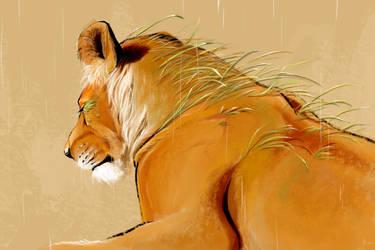 Mother of the Grasslands by lightningspam