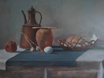 still Life with egg  by scifo