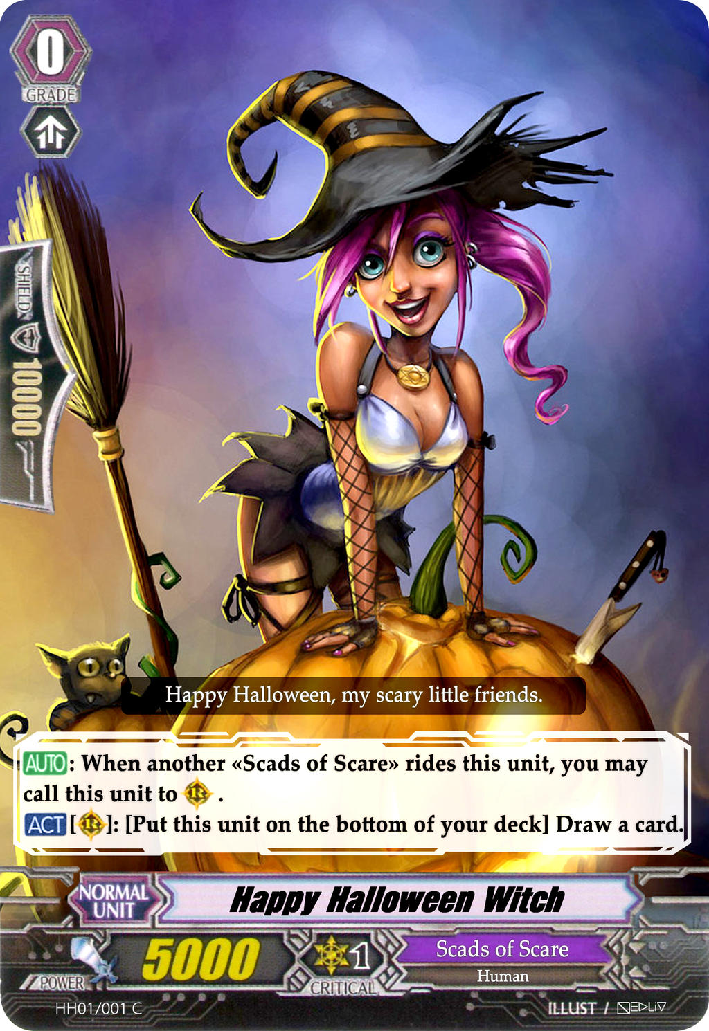 ... Happy Halloween Witch   Vanguard Card By Nedliv