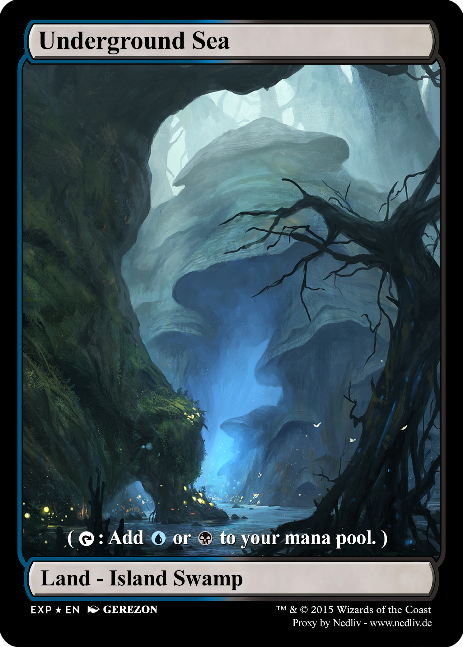MTG - Altered Fullart Proxy - Underground Sea by Nedliv on ...