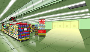 Supermarket Background by Vigorousjammer