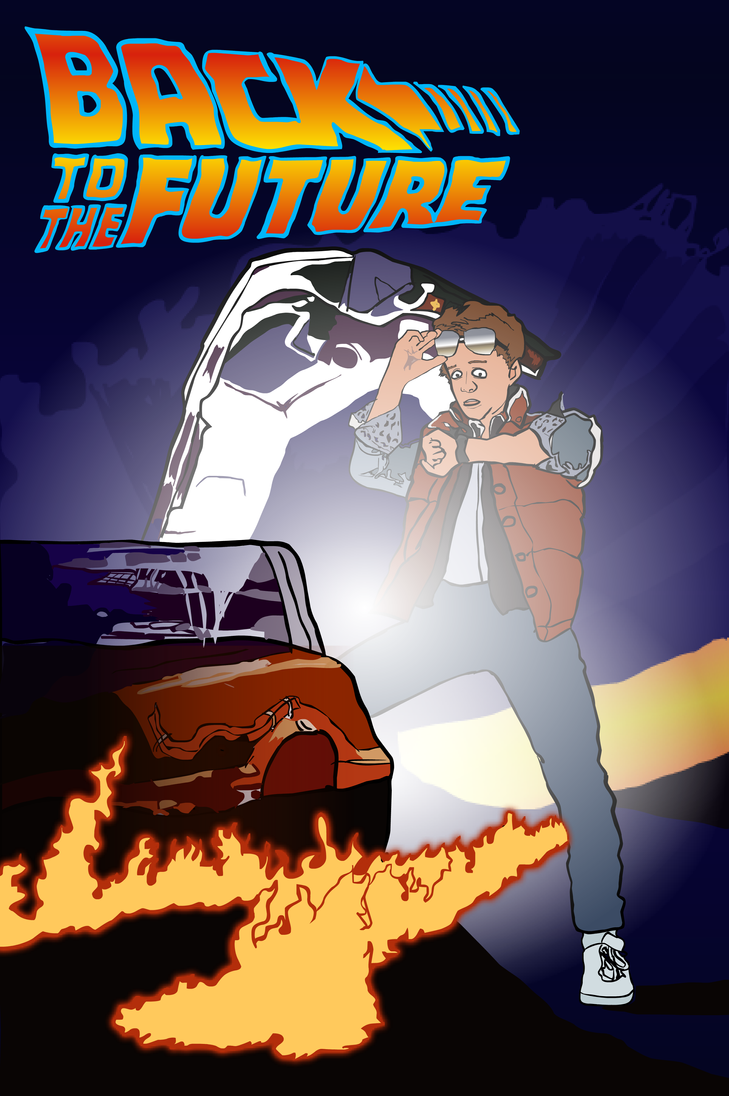 movie poster illustrations back to the future by vigorousjammer on deviantart. Black Bedroom Furniture Sets. Home Design Ideas