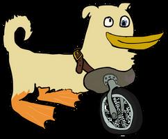 Unicycle... dog? ...duck? ...thing? by Vigorousjammer