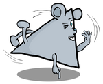 Breakdancing Triangle Mouse by Vigorousjammer