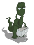 An Alien Named Paul, Typing by Vigorousjammer