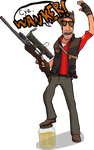 Red Sniper Taunting his Target by Vigorousjammer