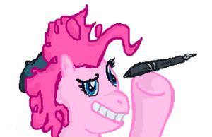 A Doodle of Pinkie Pie Doodling by Vigorousjammer