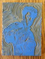 Down the Barrel (Original Wood Block) by Vigorousjammer