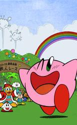 Kirby's Adventure Manga - Title Page Colorization by Vigorousjammer