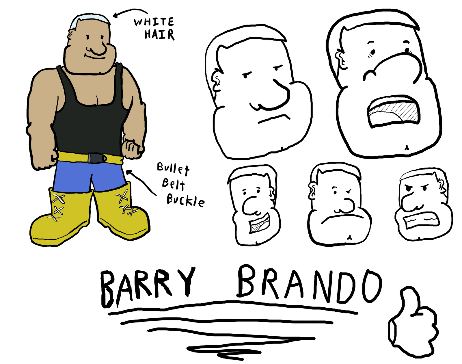 Barry Brando, the Ex-Marine - Character Sheet by Vigorousjammer