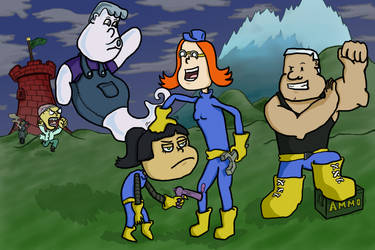 Group Shot - Webcomic Promotional Image 2 by Vigorousjammer
