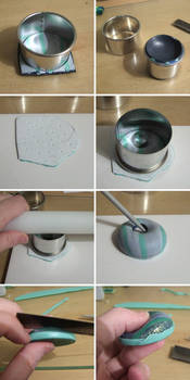 Hollow polymer clay pendant tutorial