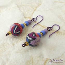 Patchwork bead earrings