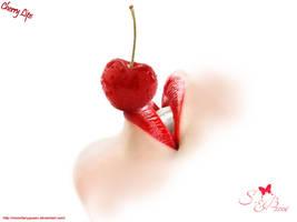 cherry lips by MoonFairyQueen