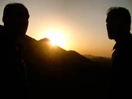 sundown over the mountains by Molekuele