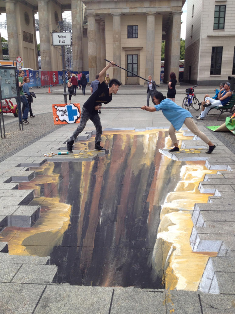3D Street Art Berlin by Molekuele
