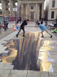 3D Street Art Berlin by Molekuele