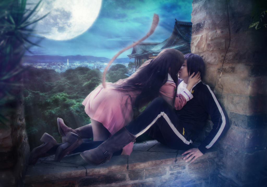 Yato X Hiyori Noragami Kiss In Moonlight By Snowblind