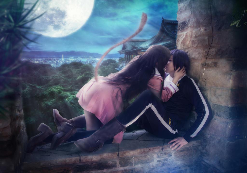 Yato X Hiyori Noragami Kiss In Moonlight By Snowblind Cosplay On