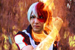 Shouto Todoroki (My Hero Akademia) - In flames
