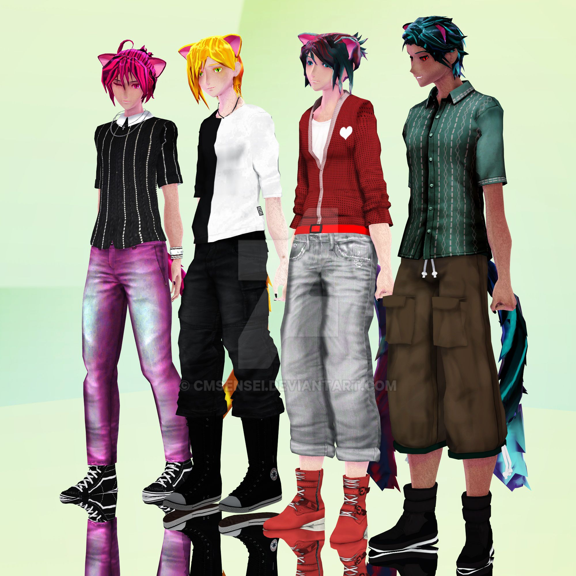 Neko Quad Alternative Outfits By Cmsensei On Deviantart