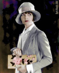 Louise Brooks Handbag Roses by thedarkwoods