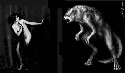 Louise Brooks Vs Werewolf by thedarkwoods