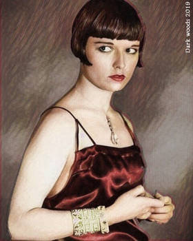 Louise Brooks, red dress