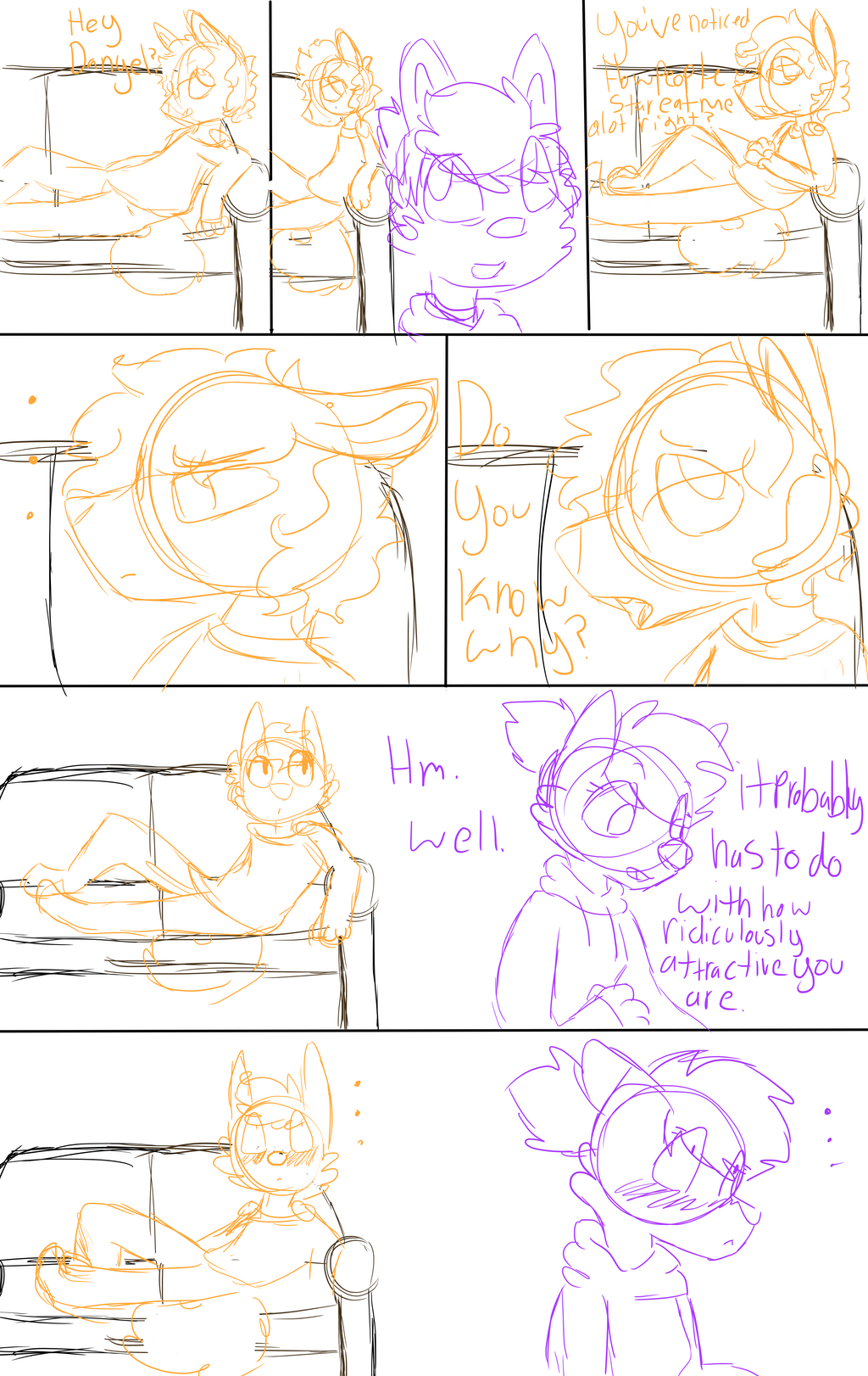 Comic Sketch by OrangeJuicee