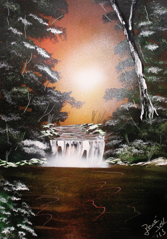 Awesome Nature - Spray Paint Art Photopaper by RiensArtwork