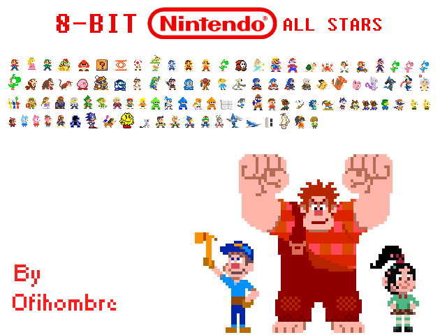 8 Bit Nintendo All Stars By Ofihombre On Deviantart