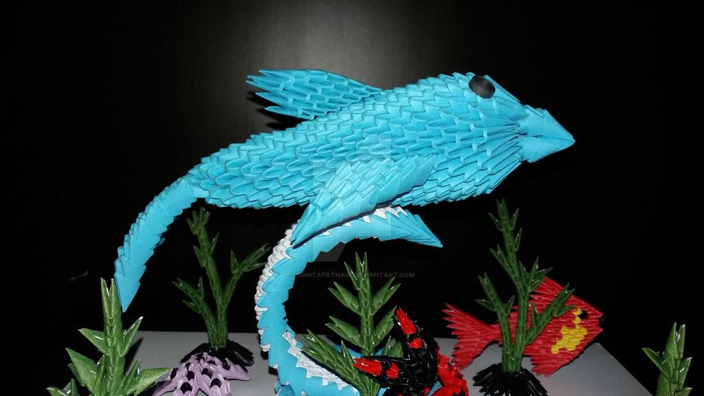 My 3d Origami Dolphin By SunitaPatnaik