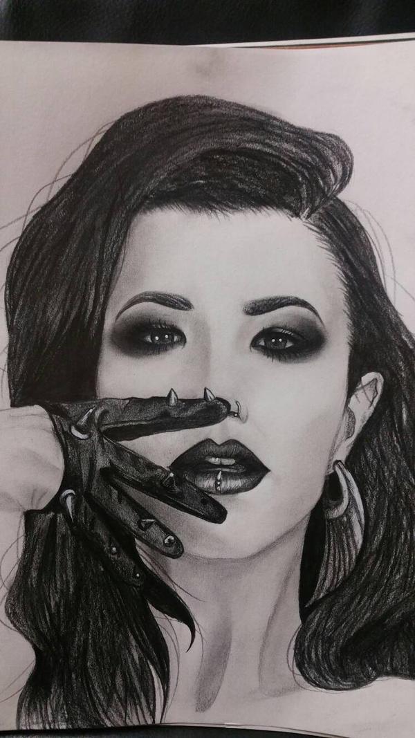 Portrait of Alissa White-Gluz  by M3ow-M1x