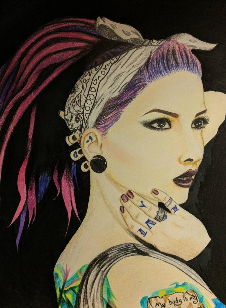 Lena Scissorhands Portrait by M3ow-M1x