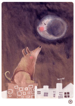 DOG AND THE MOON
