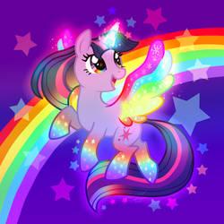 rainbow of light by Conphettey