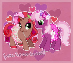 cherry spices and cheerilee by Conphettey