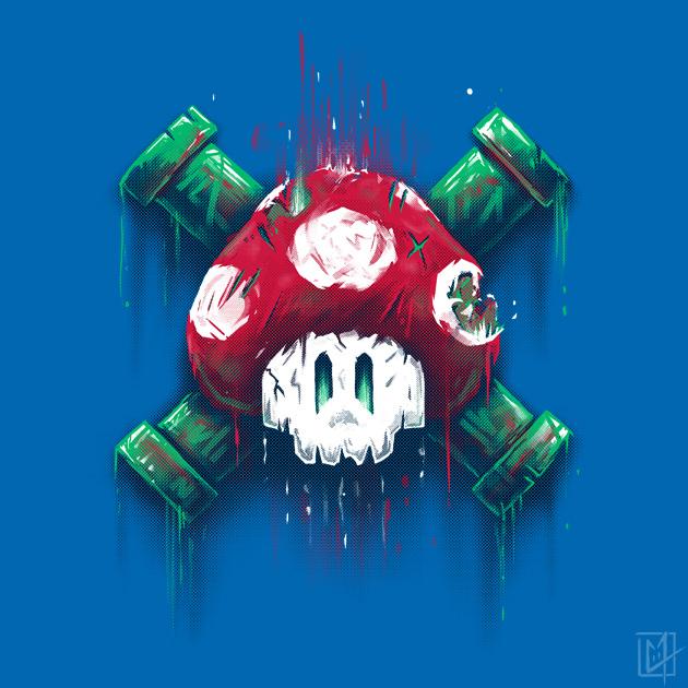 Mushroom Skull by C0y0te7