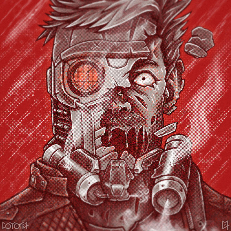 Zombie Star-Lord by C0y0te7