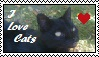I love Cats Stamp by Kleiner-Schmetterlin